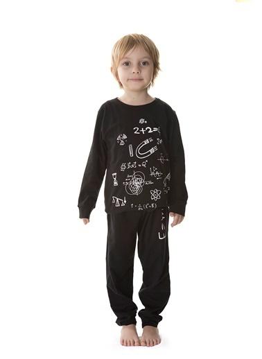Hays Erkek Çocuk Penye 2li Pijama Takımı Siyah